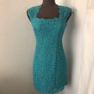 Adrianna papell sheath lace  dress 8P NWOT